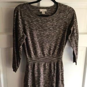 LOFT XS Brown Sweater Dress